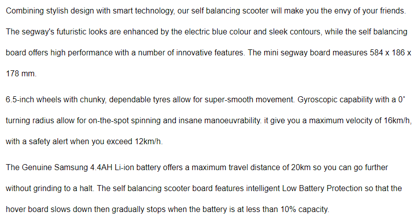 smart electric hoverboard7