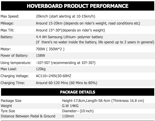 10 inch carbon black hoverboard7